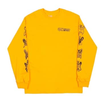 Otherness - Butterfly Long Sleeve Tee - Yellow