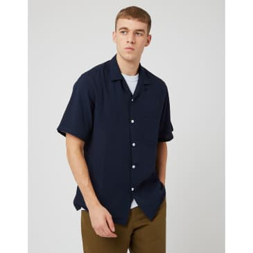 Portuguese Flannel Catown Shirt - Navy Blue