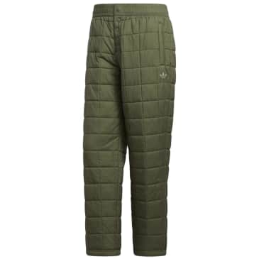 adidas Skateboarding Quilted Tracksuit Bottoms - Legacy Green / Feather Grey