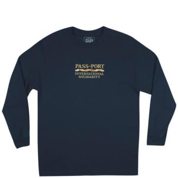 Pass~Port Inter Solid Long Sleeve T-Shirt - Navy