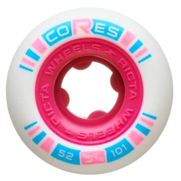 Ricta Cores Skateboard Wheels (Neon Pink) 52mm 101a