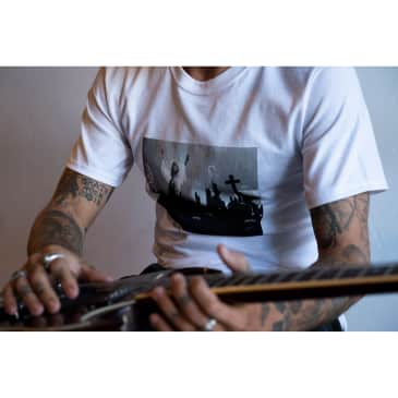 Lakai Tour Photo SS Tee White