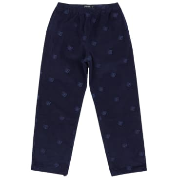 Bronze 56k Allover Embroidered Cord Pants - Navy