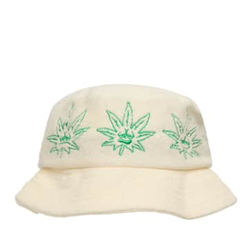 HUF Green Buddy Terry Cloth Bucket Hat - Natural