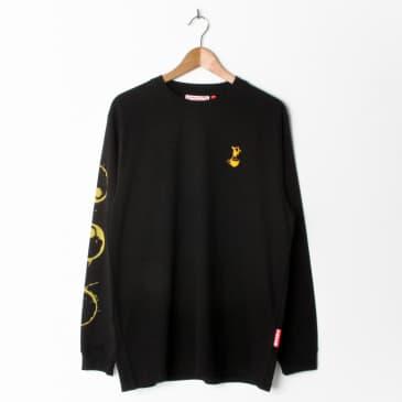 Lovenskate Drink Chai Get Rad Longsleeve T Shirt Black (With Back Print)