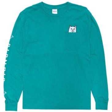 Ripndip Lord Nermal Long Sleeve Pocket T-Shirt - Teal