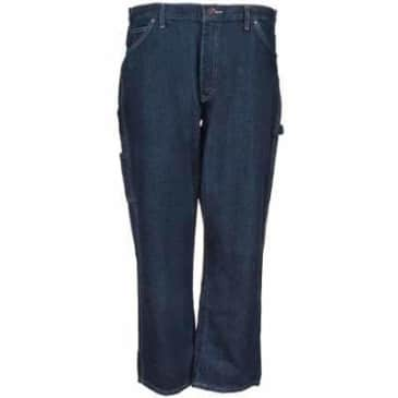 Dickies Relaxed Fit 5 Pocket Carpenter Jean Rinsed Indigo Blue