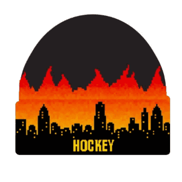 Lights Out Beanie (Black/Fire)