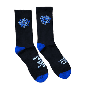 always do what you should do - black / blue @sun sock