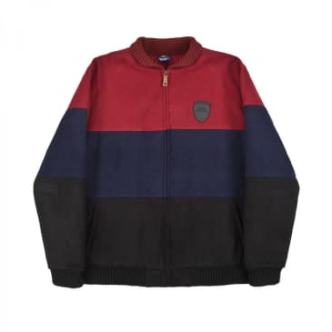 Helas Fan Jacket - Burgundy/Navy/Black