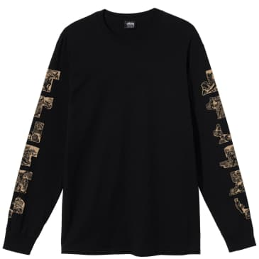 Stüssy Sculptures Long Sleeve T-Shirt - Black