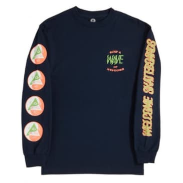 Welcome Skateboards Waves LS Tee