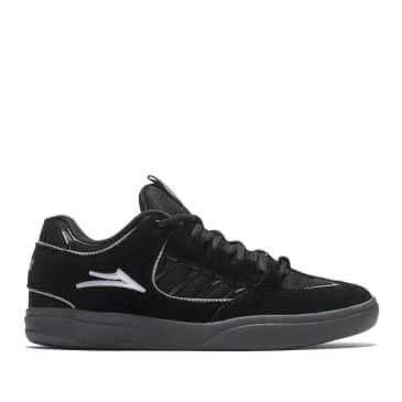 Lakai Carroll Suede Skate Shoes - Black / Smoke