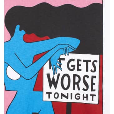 by Parra It Gets Worse T-Shirt - White