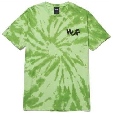 HUF Haze Brush Tie Dye T-Shirt - Lime Green