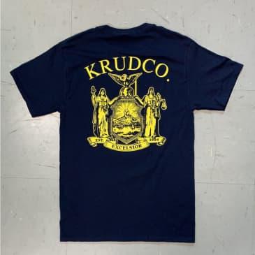 Krudco Skateshop Unisex Official Use Only Pocket Navy S-4XL