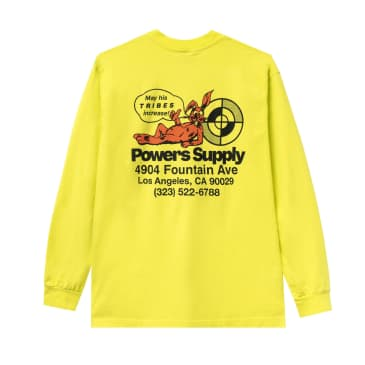 Powers Shop Long Sleeve T-Shirt - Safety Yellow