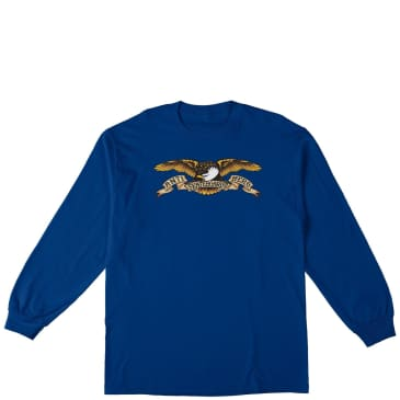 Antihero Eagle Youth Long Sleeve T-Shirt - Royal Blue
