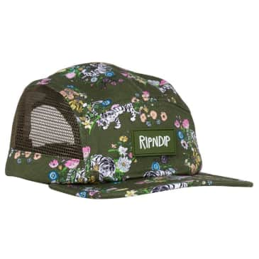Rip N Dip Blooming Nerm Cotton Twill Camper Cap - Olive