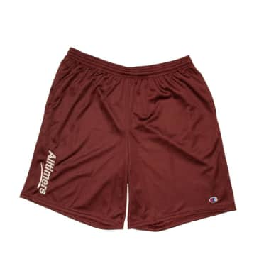 Alltimers x Champion Estate Mesh Shorts Maroon