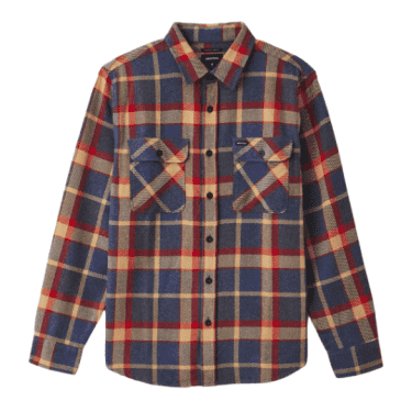 Bowery L/S Flannel | Blue/Red