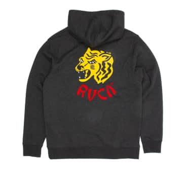 RVCA Dynasty Hooded Sweatshirt - Charcoal Heather