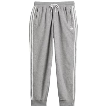 adidas Skateboarding Bouclé SST Tracksuit Bottoms - Medium Grey Heather / White