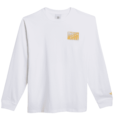 adidas Skateboarding O'Meally NYC Architecture Long Sleeve T-Shirt - White