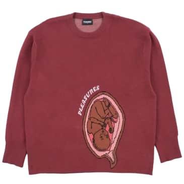 Pleasures Utero Jacquard Sweater - Maroon