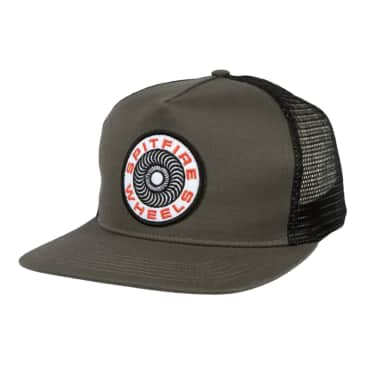 SPITFIRE Classic 87 Swirl Patch Trucker Hat Charcoal