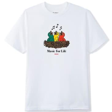 Butter Goods Music For Life T-Shirt - White