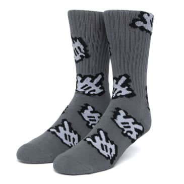 HUF Fuck It Cursor Socks Charcoal