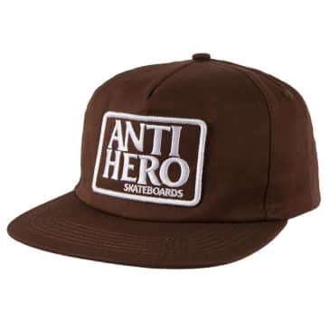 Anti Hero Reserve Patch Snapback Hat Brown/White