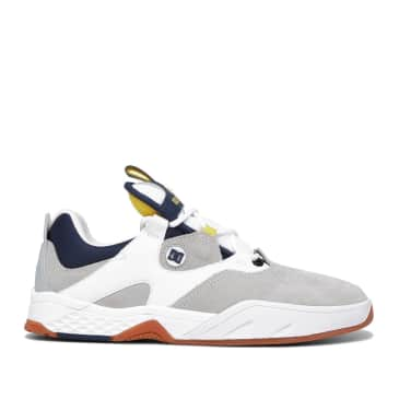 DC Kalis Skate Shoes - White / Grey / Yellow