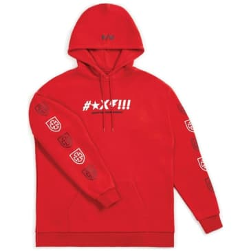 Brixton x Independent Shine Hoodie - Red