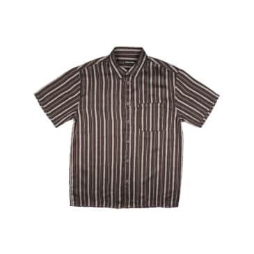 Pass~Port Skateboards - Workers S/S Stripe Shirt - Black