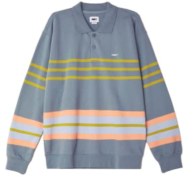 ISSO STRIPED POLO SWEATERSHIRT