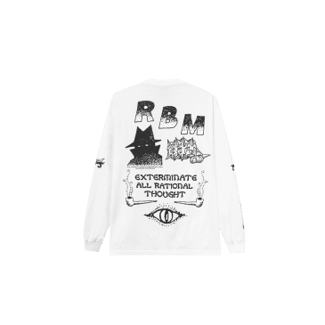 Real Bad Man Exterminate Long Sleeve T-Shirt - White