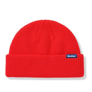 Butter Goods Wharfie Beanie - Red / Blue Label
