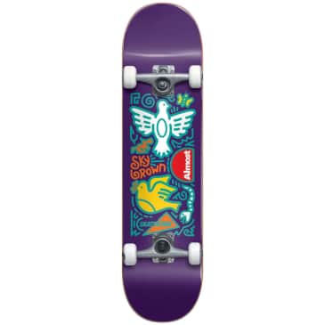"Almost Skateboards - 7.875"" Sky Brown Doodle Skateistan Complete Skateboard (Purple))"