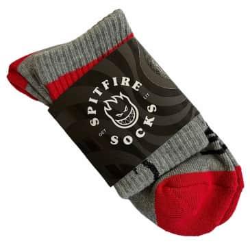 Spitfire Socks Heads Up Grey Red Black