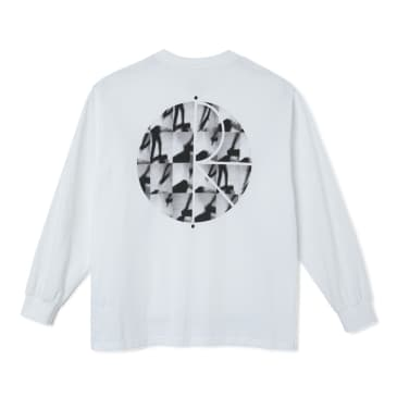 Polar Skate Co - Sequence Fill Logo Longsleeve Tee - White