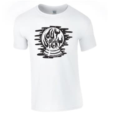Out Of Sight Crystal Ball Tee White