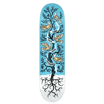 Real Skateboards Deck Ishod Peace Tree Blue/White 8.06""