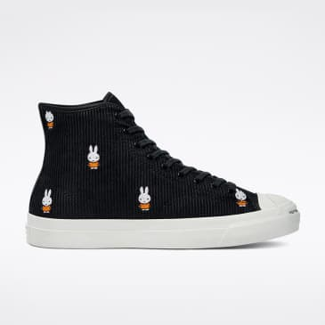 Converse x Pop Trading Co. x Miffy Jack Purcell Pro Hi Black - White - Egret