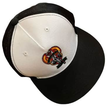 Dogtown Hat Red Dog Patch Trucker Snapback Black White
