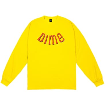 Dime Whirl Long Sleeve T-Shirt - Yellow