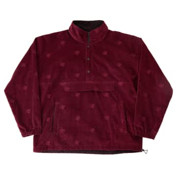 Bronze 56k - Allover Embroidered Anorak - Maroon