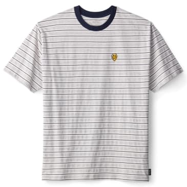 Brixton - Hilt Melter S/S Knit Shirt - Off White / Washed Navy