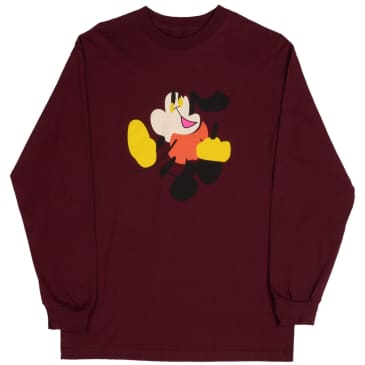 Quasi Walter Long Sleeve T-Shirt - Burgundy
